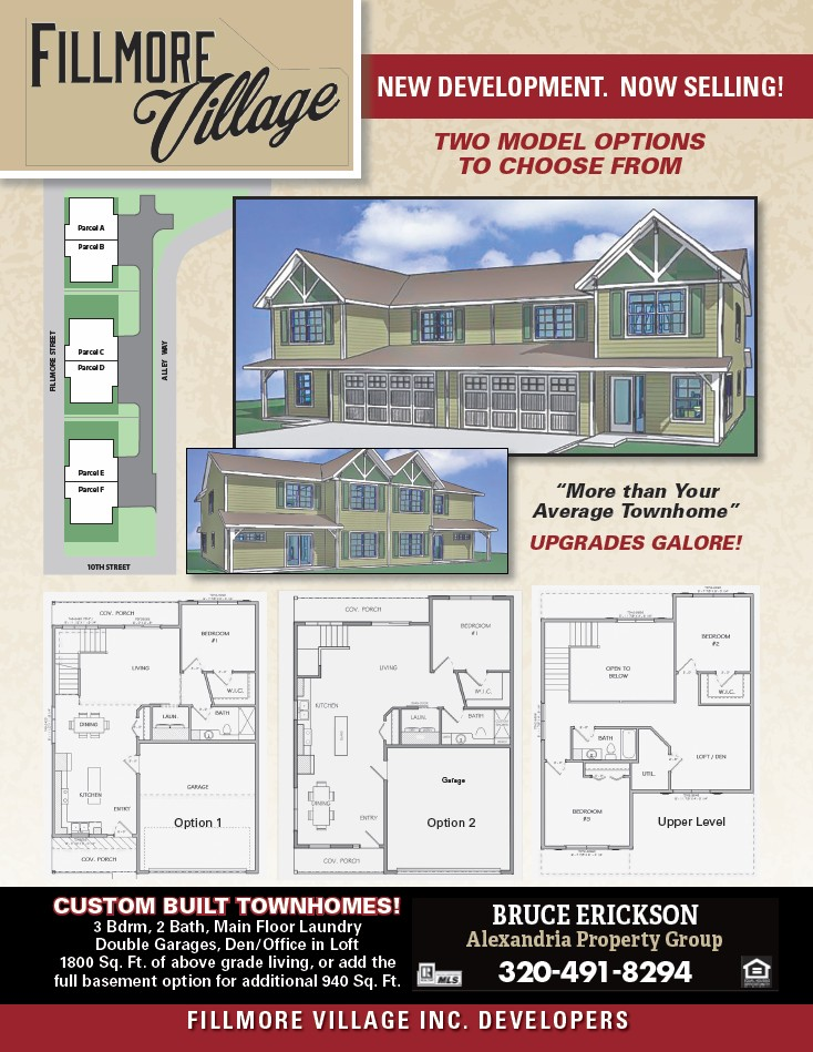 fillmore village townhomes in alexandria mn